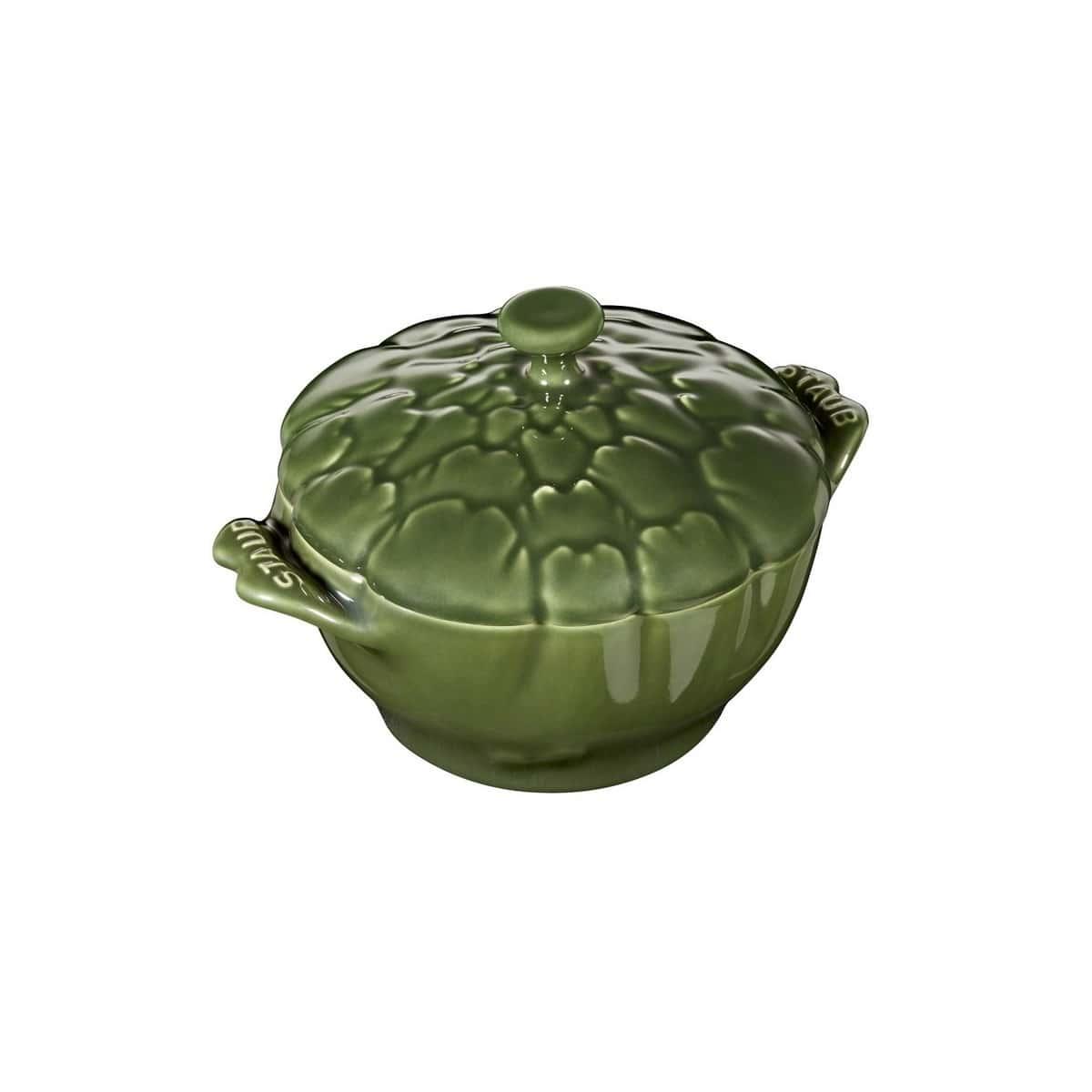 Кокот Артишок Staub 12,5 см, темно-зеленый