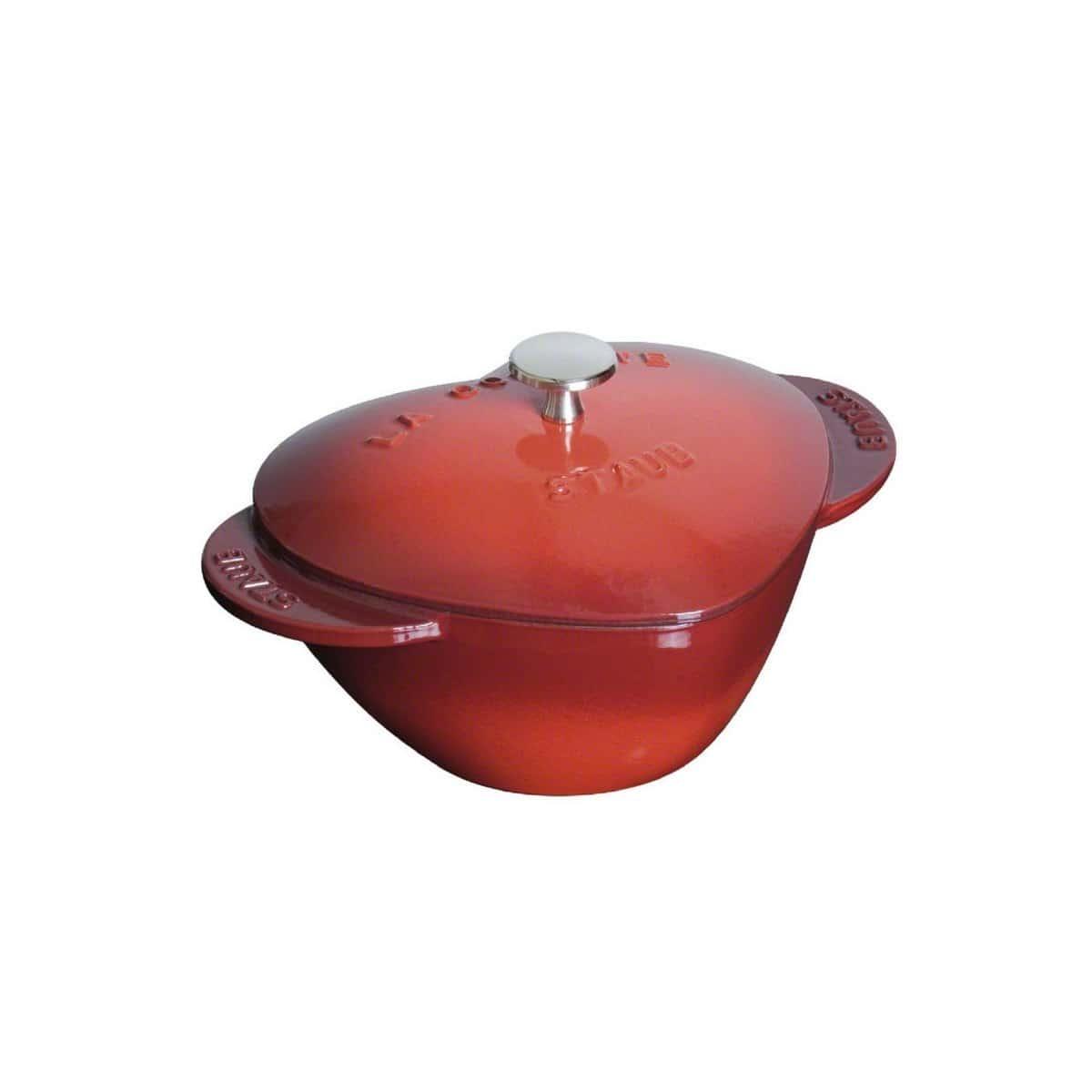 Кокот Сердце Staub 20 см, 1,75л вишневый