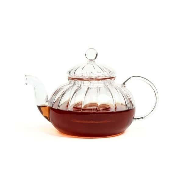 Чайник из жаропрочного стекла 600 мл Лотос Слон с заварочной колбой