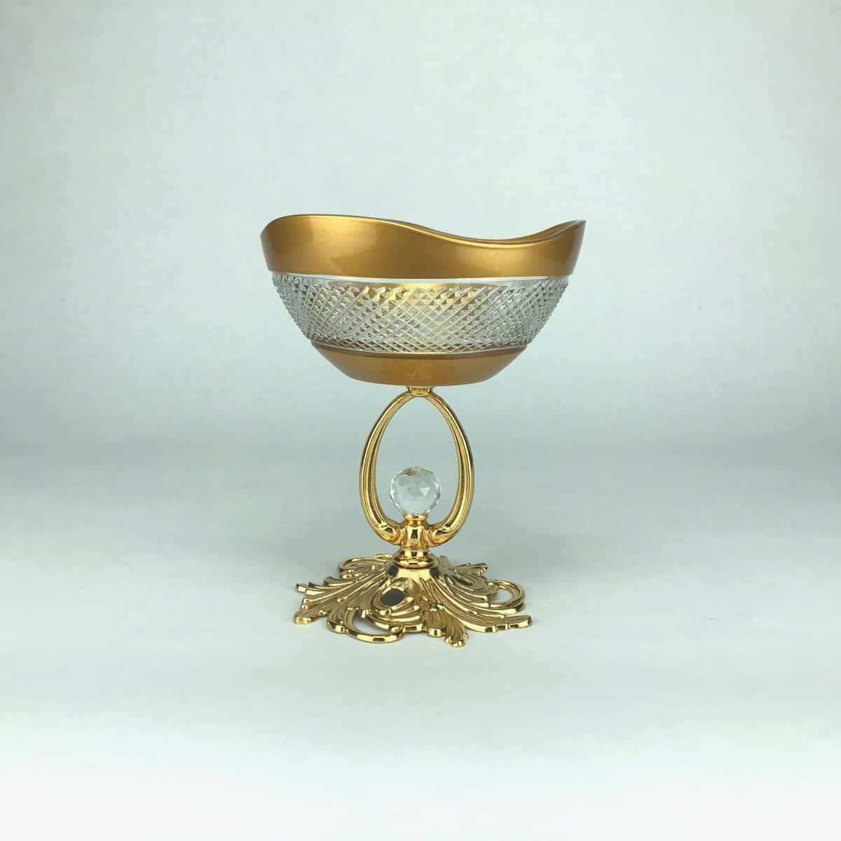 Креманка 12см.Barok YH золотая волнистая
