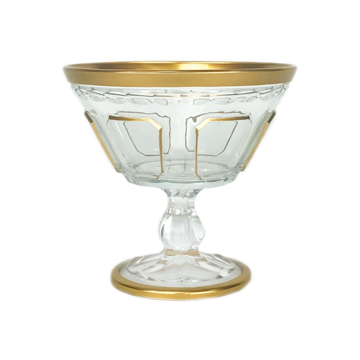Набор креманок 6шт. Safir YH золотая