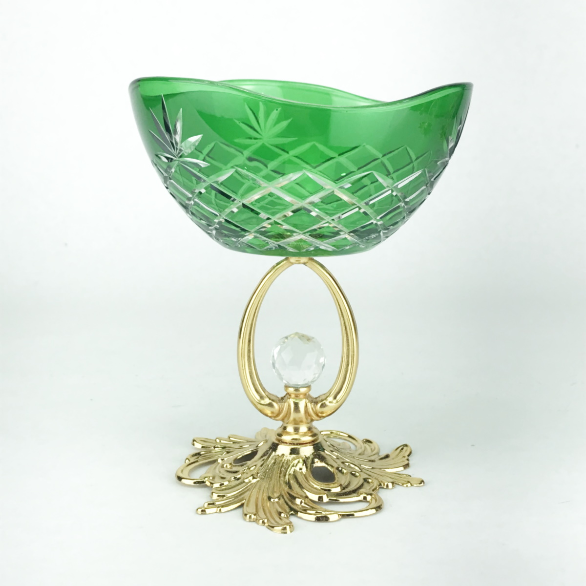 Креманка 12см.Ananas YH зеленая