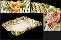 Сухарница керамическая Цветы 31см