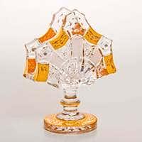 Снежинка с золотой росписью Салфетница Bohemia Brilliant 14 см