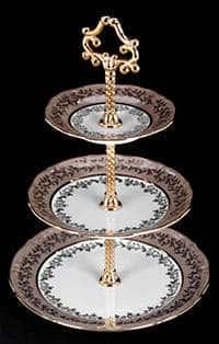 Горка Лист бежевый 3-х ярусная Bavarian Porcelain