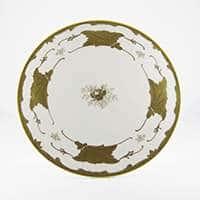 Кленовый лист белый Тортница на ножке Weimar Porzellan 24 см
