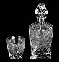 Набор для виски на 6 персон Хрусталь Квадро Снежинка