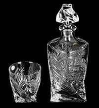 Набор для виски на 6 персон Хрусталь Квадро Комета