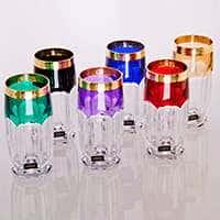 Сафари-Колорс Набор стаканов для воды Crystalite на 6 персон  15961