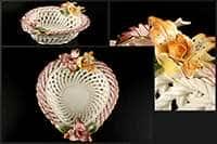 Ваза для конфет Цветы 19x17x6,5 см
