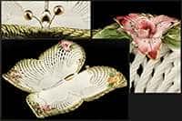 Ваза для конфет Бабочка 32x33x7 см