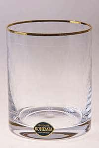 Набор стаканов для виски 320 мл Александра Золото