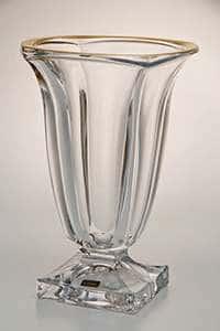 Ваза для цветов Магма прозрачная 29 cм Crystalite 12748