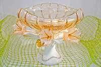 Ваза для фруктов Чевик керамическая с цветами