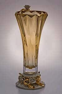 Ваза для цветов Бибироуз Пикаделли 35,5 см желтая высокая