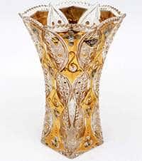 Ваза для цветов Хрусталь с золотом