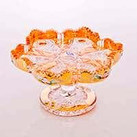 Ваза для фруктов Хрусталь с золотом 20 см