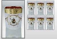 Охота белая Версаче Набор стаканов для виски 200 мл Bohemia