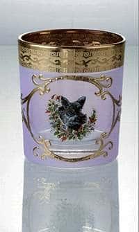 Охота розовая Набор стаканов для виски 200 мл Bohemia