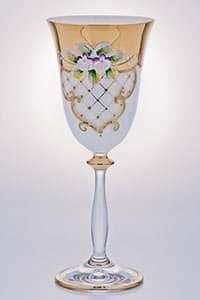 Набор бокалов для вина Лепка белая 250мл Bohemia