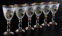 Набор бокалов для вина Роза 220 мл