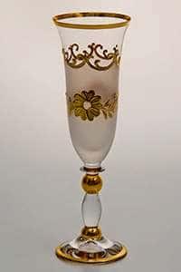 Набор фужеров для шампанского Цветы-Декор 160 мл