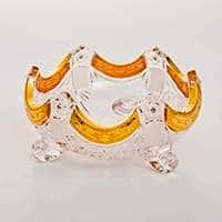 Ваза для варенья Снежинка с золотой росписью 15,5 см Bohemia Brilliant