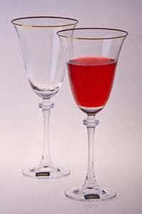 Набор бокалов для вина 250 мл Александра Золото