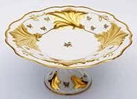 Ваза для фруктов Ютта 31 см Роза золотая Weimar Porzellan