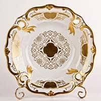 Ваза для фруктов Илза 25 см Симфония Золотая Weimar