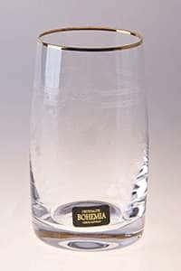 Клаудия Золото Набор стаканов для воды Crystalite 250 мл