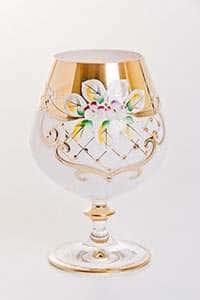 Набор бокалов для бренди Лепка белая 400 мл Bohemia