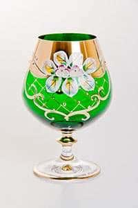Набор бокалов для бренди Лепка зеленая 400 мл