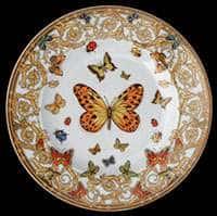 Ле Жардин Версаче Тарелка круглая Розенталь 18 см из фарфора