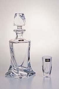 Набор для водки на 6 персон 7 предметов Квадро прозрачный