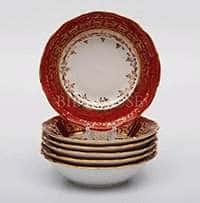 Лист красный Набор салатников Bavarian Porcelain 13 см