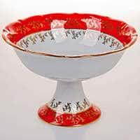 Мария Лист красный Салатник Bavarian Porcelain 23 см