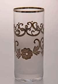 Цветы-Декор платина Набор стаканов для воды Bohemia 300 мл