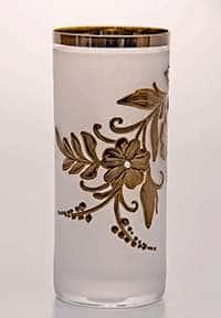 Цветы-Декор платина Bohemia Набор стаканов для воды 300 мл