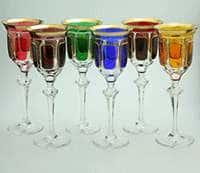 Набор бокалов для вина 220 мл Арнштадт Антик цветной