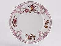 Бернадот Красный  Набор тарелок 25 см из фарфора  10429