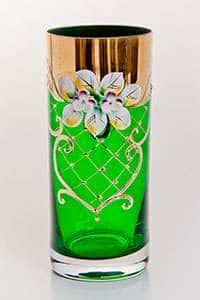 Лепка зеленая Набор стаканов для воды Bohemia 300 мл