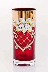 Лепка красная Набор стаканов для воды Bohemia 300 мл