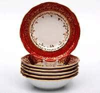 Лист красный Набор салатников Bavarian Porcelain 16 см