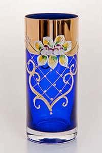 Лепка синяя Набор стаканов для воды Bohemia 300 мл