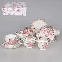 Аманда Чайный набор из фарфора Patricia 14 предметов 220 мл