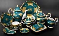 Кленовый лист зеленый Сервиз чайный Weimar на 12 персон 55 предметов