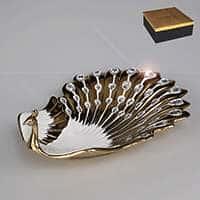 Фруктовница со стразами 43 см Райская птица
