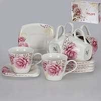 Розовые розы Набор чайный Patricia 12 предметов 220 мл