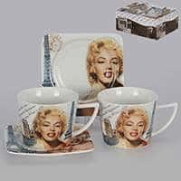 Мэрилин Монро Чайные чашки с блюдцами Patricia на 2 персоны